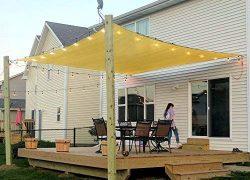 Rectangle Sun Shade Sail Canopy, 6′ x 8′ Patio Shade Cloth Outdoor Cover – UV  ...