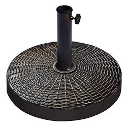 EliteShade Umbrella Base Stand Market Patio Outdoor Heavy Duty Umbrella Holder with Rattan Patte ...