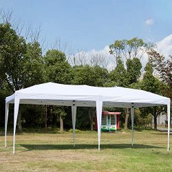 Easyzon 10 x 20FT Pop Up Patio EZ Canopy Tent Heavy Duty Gazebo Pavilion Outdoor Party Commercia ...