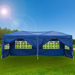 VINGLI 10X20 Feet Pop Up Canopy,Instant Tent,6 Removable Sidewalls,Folding EZ Up Canopy Tent,Pat ...