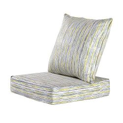MAXDIVANI Indoor/Outdoor Deep Seating Patio Chair Seat and Back Cushion Set, Spring/Summer Seaso ...
