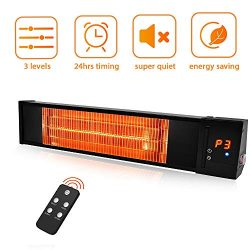 Patio Heater – TRUSTECH Electric Space Heater Infrared heater w/Remote, 24H Timer Overheat ...