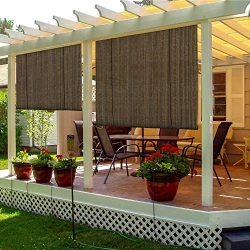 TANG Sunshades Depot Exterior Roller Shade Roll up Shade for Patio Deck Porch Pergola Balcony Ba ...