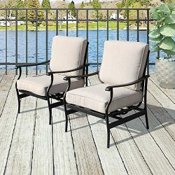 Patio Festival ® Outdoor Chair Bistro Cushioned Rocking Sofa Chairs Patio Furniture Sets Modern  ...