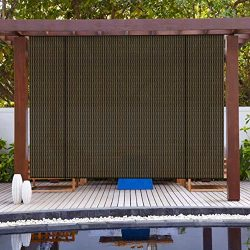 PATIO Paradise Roll up Shades Roller Shade 7'Wx6'H Outdoor Shade Blind Pull Shade Pr ...