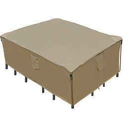Waterproof Patio Furniture Set Cover, Heavy Duty Lawn Patio Furniture Cover with Reinforced Corn ...
