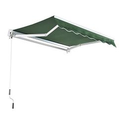 MCombo 10×8 Feet Manual Retractable Patio Door Window Awning Sunshade Shelter Outdoor Canop ...