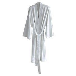 Under the Canopy Organic Cotton  Kimono Robe, One Size, White