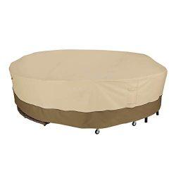 Classic Accessories Veranda 128″ Diameter Round Sectional Sofa/General Purpose Patio Furni ...