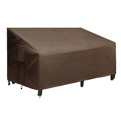 SONGMICS Patio Bench/Sofa Cover, 600D Bench Loveseat Protective Sofa Cover for Deep Lounge Sofa  ...
