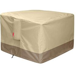Gas Fire Pit Cover Square – 600D Heavy Duty Patio Outdoor Fire Pit Table Cover with PVC Co ...