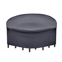 SUNRAIN Patio Furniture Covers Waterproof Outdoor Bistro Set Cover with Stable Strap Round 60 ...