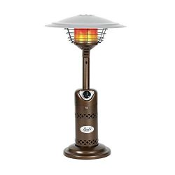BALI OUTDOORS Patio Heater, Portable Tabletop Heater, Propane Patio Heater, 10,000 BTU with Adju ...