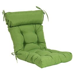 QILLOWAY Indoor/Outdoor High Back Chair Cushion,Spring/Summer Seasonal Replacement Cushions. (Green)