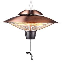 DONYER POWER 1500W Outdoor/Indoor Electric Patio Heater, Ceiling Mounted, Iron (HCH503, Coppering)
