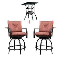 Patio Festival Outdoor Bar Stools Bar Height Patio Chairs Swivel Bar Stool Patio Furniture Tall  ...