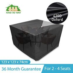 king do way Outdoor Patio Furniture Covers Square Patio Table Chair Cover All Weather Protection ...
