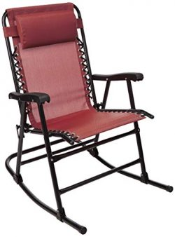 AmazonBasics Foldable Rocking Chair – Red