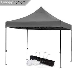 Snail 10×10-FT Easy Pop up Canopy Tent with Heavy Duty 420D Waterproof and UV-Treated Cover ...