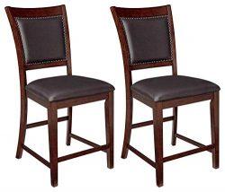 Ashley Furniture Signature Design – Collenburg Counter Height Bar Stool – Dark Brown