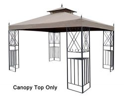 APEX GARDEN Replacement Canopy Top for 10′ x 12′ Monterey Gazebo #L-GZ288PST-4H / L- ...