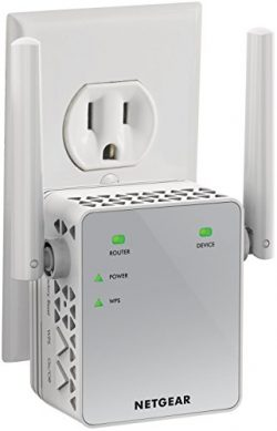 NETGEAR WiFi Range Extender EX3700 – Coverage up to 1000 sq.ft. and 15 devices with AC750  ...
