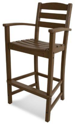 POLYWOOD TD202TE La Casa Café Bar Arm Chair, Teak