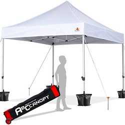 ABCCANOPY 10×10 Canopy Tent Pop up Canopy Outdoor Canopy Commercial Instant Shelter with Wh ...