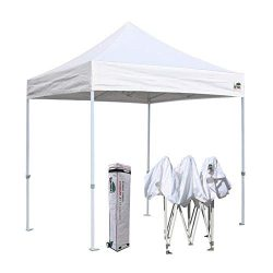 Eurmax 8×8 Feet Ez Pop up Canopy, Outdoor Canopies Instant Party Tent, Commercial Gazebo Bo ...