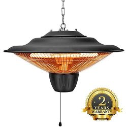 Patio Heater – Outdoor Heater, 1500W, Ceiling Mounted, Outdoor or Indoor Use, Ideal for Ba ...