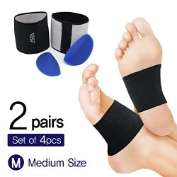 Cushioned Arch Supports-Plantar Fasciitis Braces & Detacheable Soft Gel Cushions(DIY) – ...