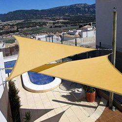 Artpuch 2Pcs 12′ x 12′ x 12′ Triangle Sun Shade Sails Sand UV Block for Shelte ...