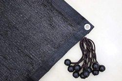 Jesasy 70% Sunblock Shade Cloth with Grommets for Garden Patio 10ft X 20ft Black+FREE 10pcs 6 ...