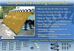 RV Awning Shade Net Complete Kit 8×10 (Beige)