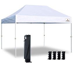 Keymaya 10'x15′ Ez Commercial Instant Tent Heavy Duty Pop-up Canopy Shelter Bonus We ...