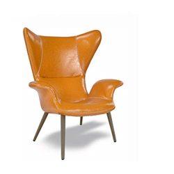 Sofa Chair Sleek Minimalist Reception Chair PU Smooth Single Lounge Living Room Study Bedroom Ba ...