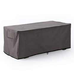 Leader Accessories Waterproof Deck Box/Storage Ottoman Bench Cover for Keter/Lifetime/Suncast/Ru ...