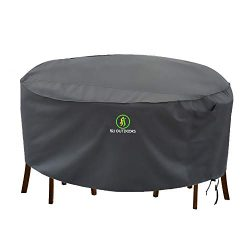 Outdoor Patio Furniture Covers, Waterproof UV Resistant Anti-Fading Cover for Large Round Table  ...