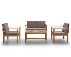 Sunset Garden SG15 Biscayne Outdoor Furniture Set, Taupe