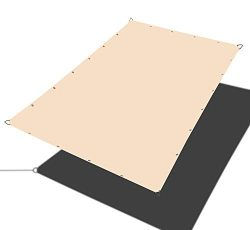 Alion Home Custom Sizes Straight Edge PU Waterproof Woven Sun Shade Sail for Car Tent, Carport,  ...