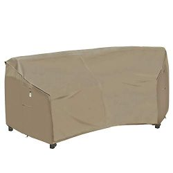 Heavy Duty Outdoor Sectional Couch Covers, 100% Waterproof 600D Patio Sectional Sofa Cover, Curv ...