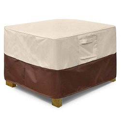 Vailge Square Patio Ottoman Cover, Waterproof Outdoor Ottoman Cover with Padded Handles, Patio S ...