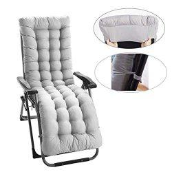 siruipu Patio Chaise Lounger Cushion, 61Inch Thickened Chaise Longue Cushion Recliner Cushions R ...