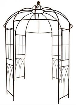 OUTOUR French Style Birdcage Shape Heavy Duty Gazebo,9'Highx 6'6″Wide,Pergola  ...