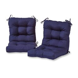Greendale Home Fashions Outdoor Seat/Back Chair Cushion (set of 2), Navy