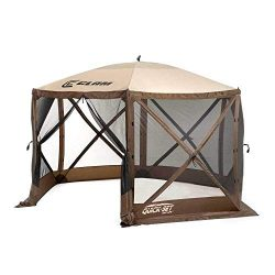 Quick Set 9879 Escape Shelter, 140 x 140-Inch Portable Popup Gazebo Durable Tent Bug and Rain Pr ...