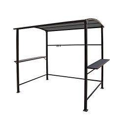 COBANA Grill Gazebo 8'by 4.6′ Outdoor Canopy with Single-Tier Soft Top, Gray