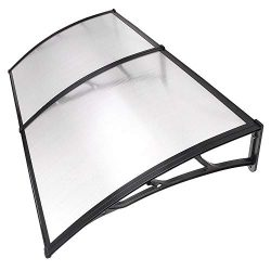 Instahibit 79×40″ Window Awning Front Door Cover UV Rain Snow Protection Outdoor Pati ...