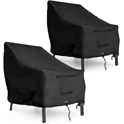 1 Pair Waterproof Adirondack Patio Chair Cover – 35″L x 38″D x 31″H 600D ...