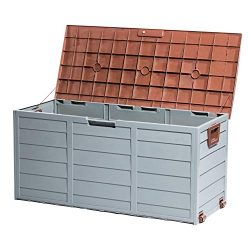 Tiptiper Deck Box, 79 Gallon Deck Storage Box Outdoor with Lockable Lid, Waterproof Outdoor Stor ...